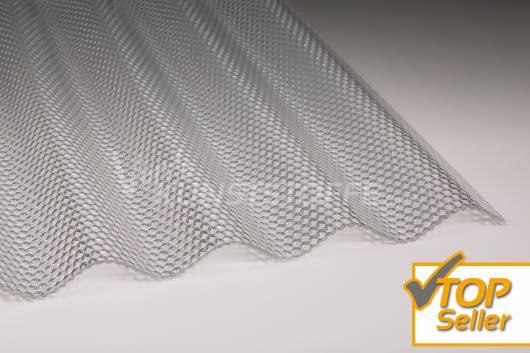 Polycarbonat Wellplatten 76/18 klar Wabenstruktur hagelsicher