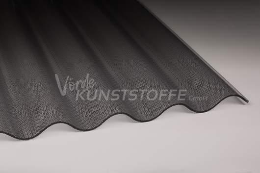 Acrylglas Lichtplatten 76/18 graphit Perle
