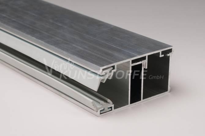 Alu-Randkomplettsystem für 16mm Hohlkammerplatten