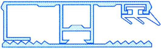 Alu-Stegrandsystem für 10mm Hohlkammerplatten