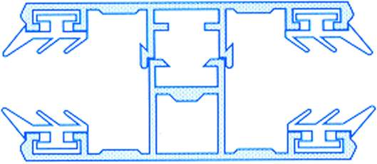 Alu-Komplettmittelsystem für 10mm Hohlkammerplatten