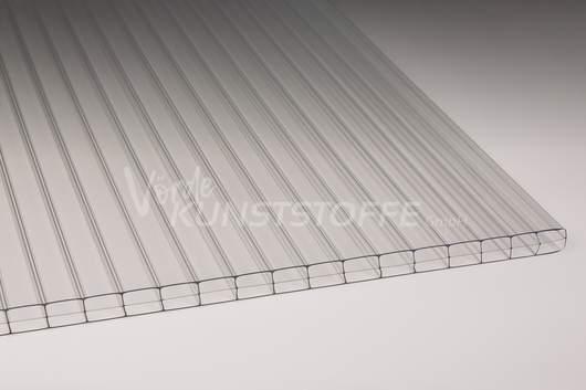 Hohlkammerplatten Stegdreifach farblos Polycarbonat 16mm