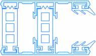 Alu-Thermo-Randsystem für 25mm Hohlkammerplatten