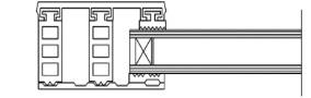 Randsystem für 26mm Isoglas - Breite 60mm