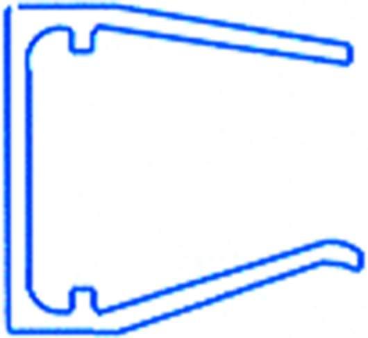 Alu-Abschlussprofil für 16mm Hohlkammerplatten