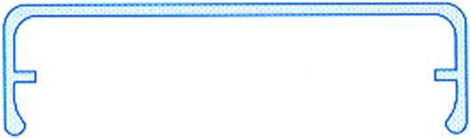 Alu-Klemmdeckel blank für Hohlkammerplatten