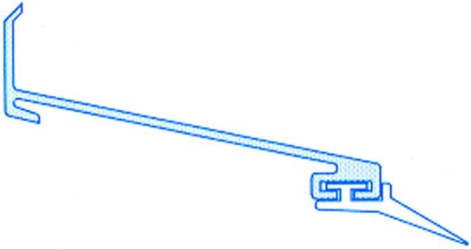 Alu-Wandanschluss blank für Hohlkammerplatten