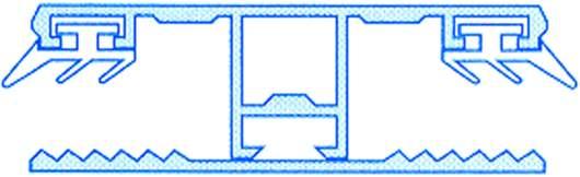 Alu-Stegmittelsystem für 10mm Hohlkammerplatten