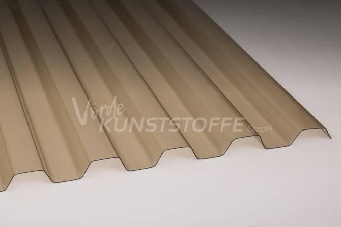 Sollux® Trapezlichtplatten 70/18 bronze