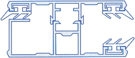 Alu-Randkomplettmittelsystem für 10mm Hohlkammerplatten