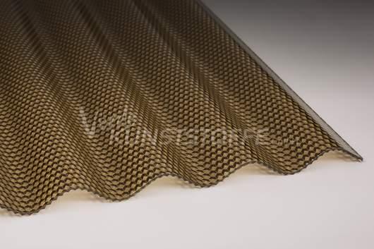 Polycarbonat Lichtplatten 76/18 bronze Wabenstruktur