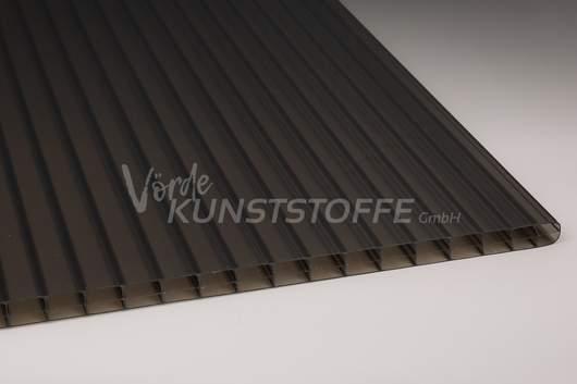 Hohlkammerplatten Stegdreifach bronze 16 mm Polycarbonat