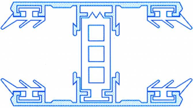 Alu-Thermo-Mittelsystem für 25mm Hohlkammerplatten