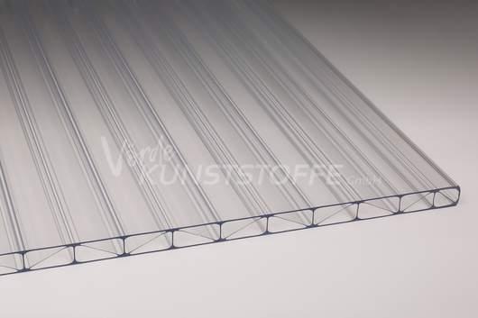 Hagelsichere Hohlkammerplatte 16mm Polycarbonat farblos