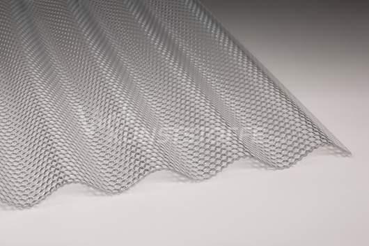 Acrylglas Lichtplatten 76/18 farblos Wabenstruktur