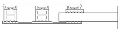 Randsystem für 10mm ESG + VSG - Breite 80mm