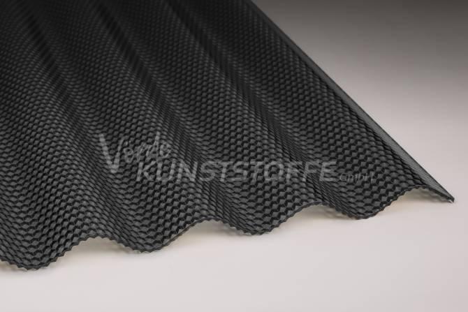 Acrylglas Lichtplatten 76/18 graphit Wabenstruktur