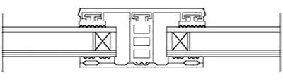 Mittelsystem für 32mm Isoglas - Breite 80mm