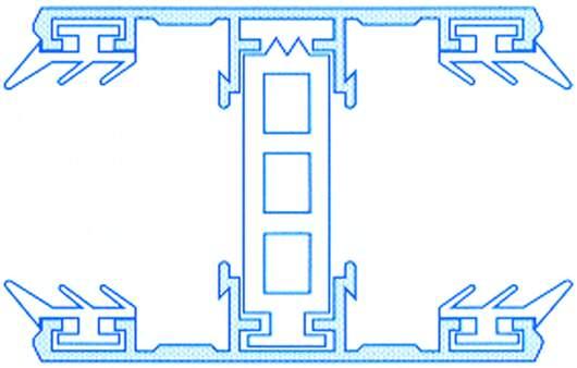 Alu-Thermo-Mittelsystem für 32mm Hohlkammerplatten