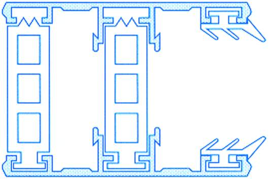 Alu-Thermo-Randsystem für 32mm Hohlkammerplatten