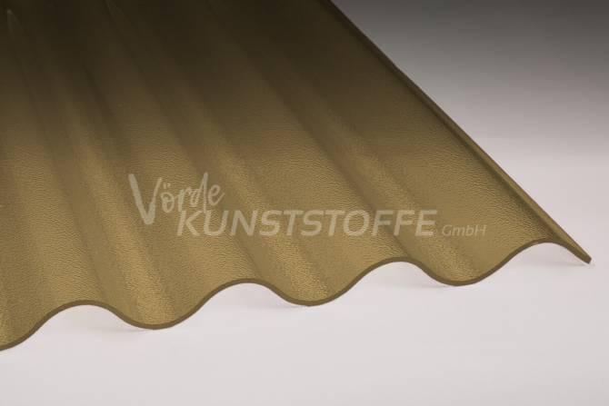Acrylglas Lichtplatten 76/18 bronze C-Struktur