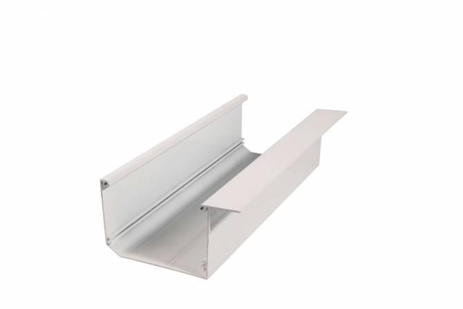 Aluminium Dachrinne pressblank